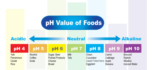 pH Value of Foods